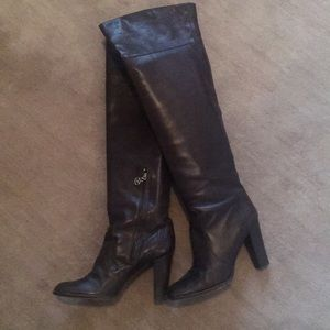 DKNY Over Knee Leather Boots